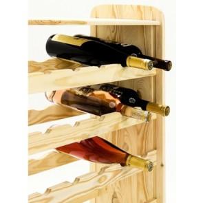 Regál na víno Robon, na 36 fliaš, Natur, 91x63x27 cm