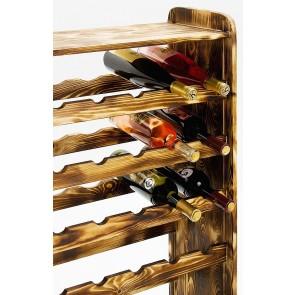 Regál na víno Robon, na 36 fliaš, odtieň Rustikal, 91x63x27 cm