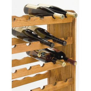 Regál na víno Rutkin, na 42 fliaš, odtieň Lazur - gaštan, 94x63x27 cm