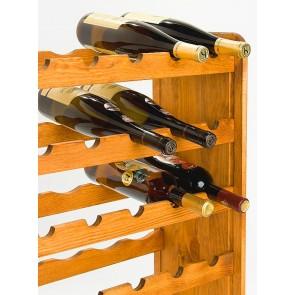 Regál na víno Rutkin, na 42 fliaš, odtieň Lazur - mahagón, 94x63x27 cm