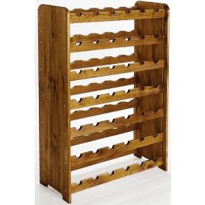 Regál na víno Rutkin, na 42 fliaš, odtieň Lazur - palisander, 94x63x27 cm
