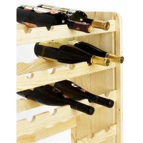 Regál na víno Rutkin, na 42 fliaš, prevedenie Natur, 94x63x27 cm