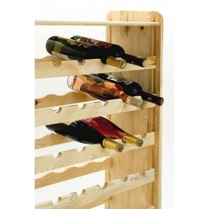Regál na víno Rack, na 56 fliaš, prevedenie Natur, 118x72x27 cm