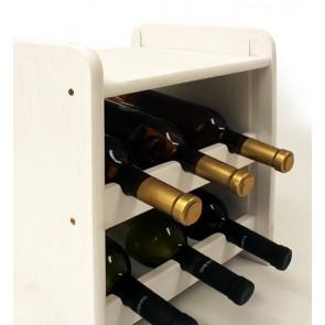 Regál na víno Ricos, na 6 fliaš, odtieň Lazur - biely, 38x33x27 cm