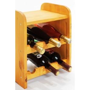 Regál na víno Ricos, na 6 fliaš, odtieň Lazur - mahagón, 38x33x27 cm