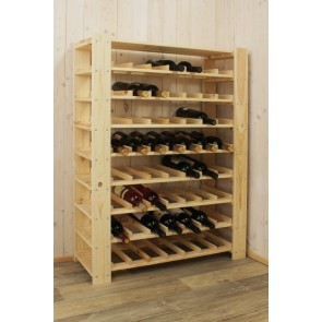 Stojan pre uskladnenie vína, na 56 fliaš, natur