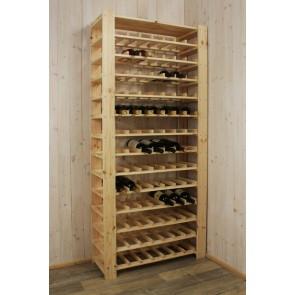 Stojan pre uskladnenie vína, na 91 fliaš, natur