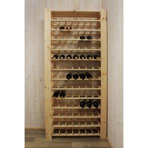 Stojan pre uskladnenie vína, na 91 fliaš, natur, s policou