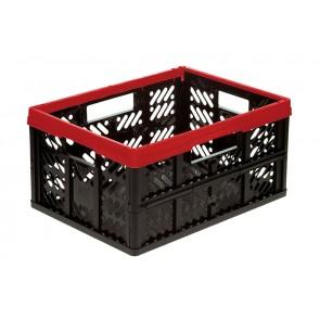 Plastový skladací box, malý, červený, 47x34x23 cm