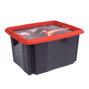 Plastový box Star Wars, 24l, čierny s vekom, 41x34x22 cm