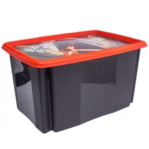 Plastový box Star Wars, 45l, čierny s vekom, 55 x 39,5x29,5 cm