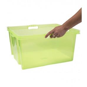 Plastový box Multi XXL, svieža zelený, bez veka, 52x43x26 cm